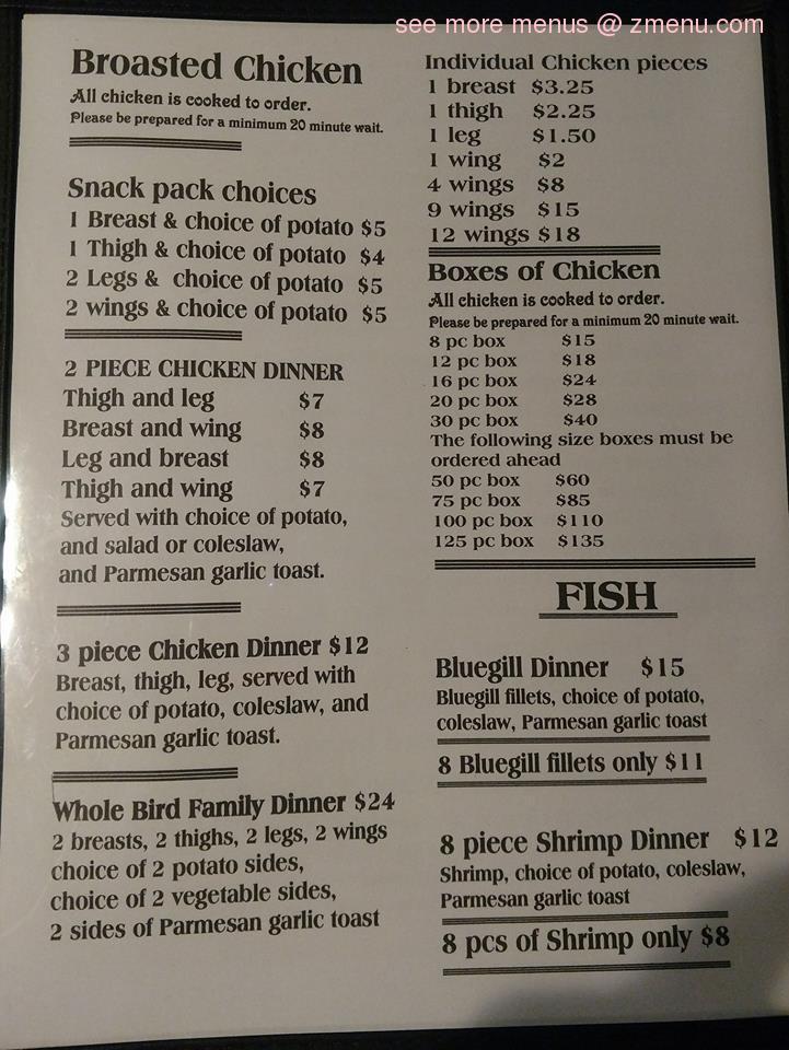 Online Menu of Curve Inn Restaurant, South Haven, Michigan