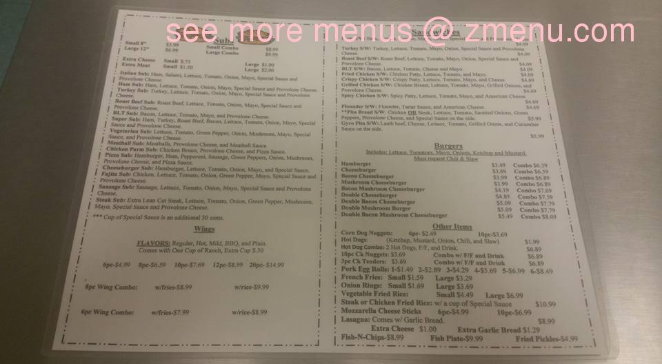 Chinese Kitchen Menu Albemarle Nc