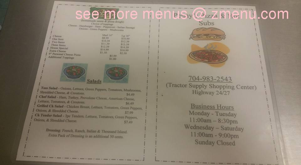 Chinese Kitchen Menu Albemarle Nc