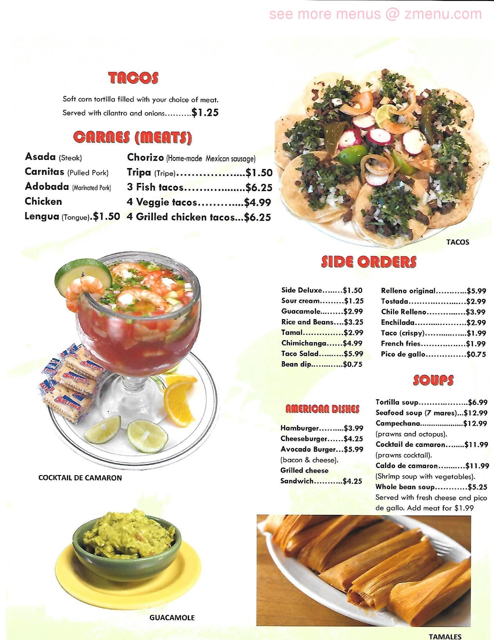 Online Menu Of La Terraza Restaurant Marysville Washington