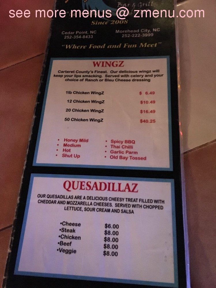 Cedar Point Restaurant Menu