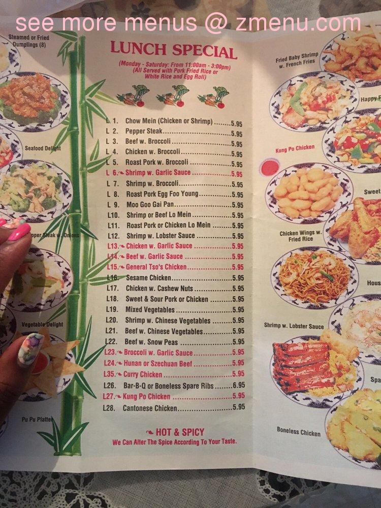 Online Menu Of China Garden Restaurant Fairmont North Carolina 28340 Zmenu