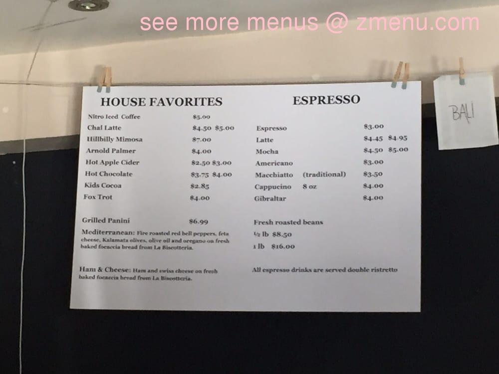 Online Menu of Back Yard Coffee Company Restaurant ...