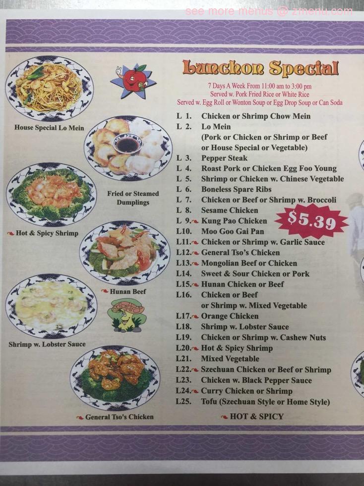 Online Menu Of Happy Garden Chinese Restaurant Restaurant Gibsonville North Carolina 27249 Zmenu