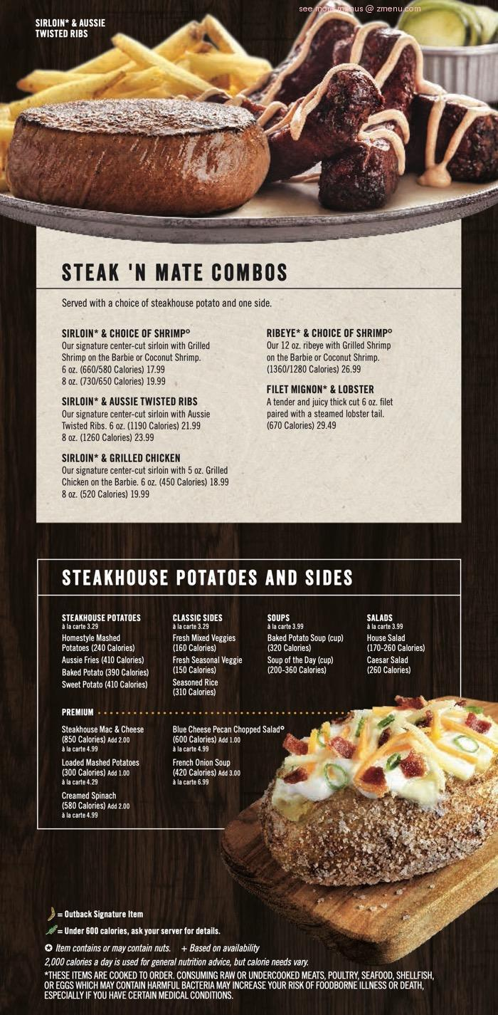 online menu of outback steakhouse restaurant huntersville north carolina 28078 zmenu menu of outback steakhouse restaurant