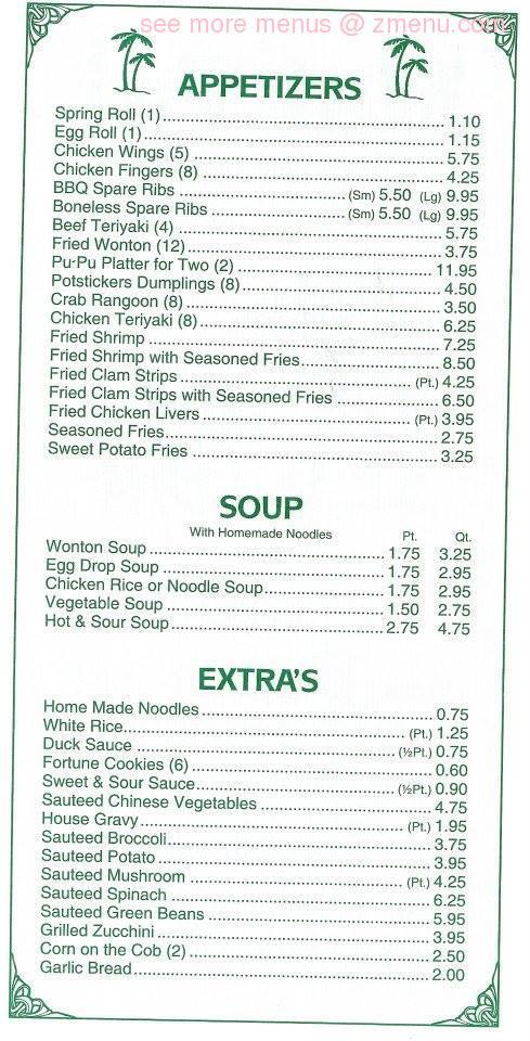 Online Menu Of Mai Tai Restaurant Jacksonville North Carolina