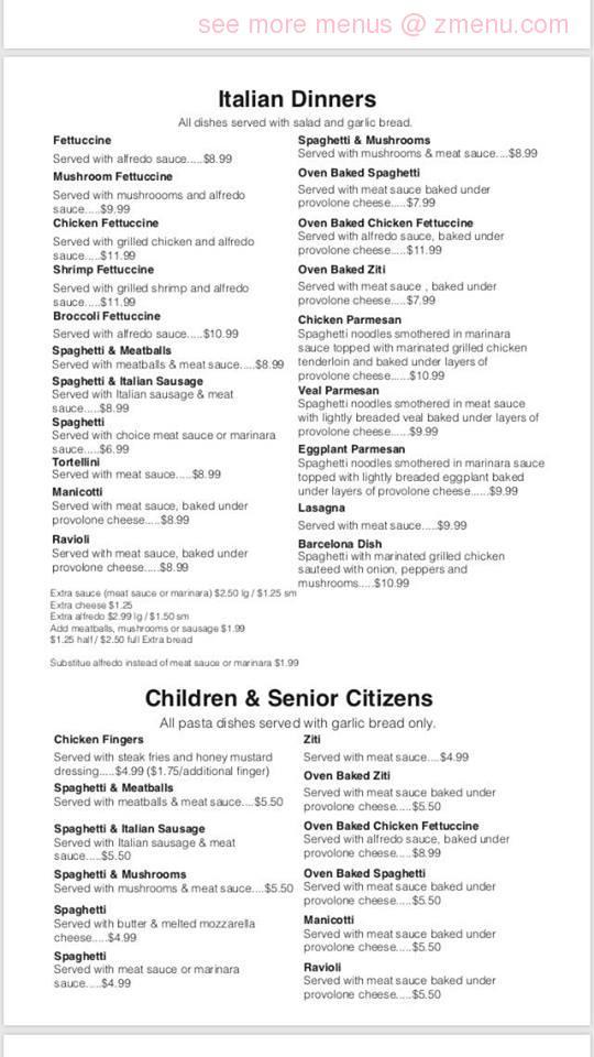 Online Menu Of Italian Garden Pizzaria Restaurant Kings Mountain North Carolina 28086 Zmenu