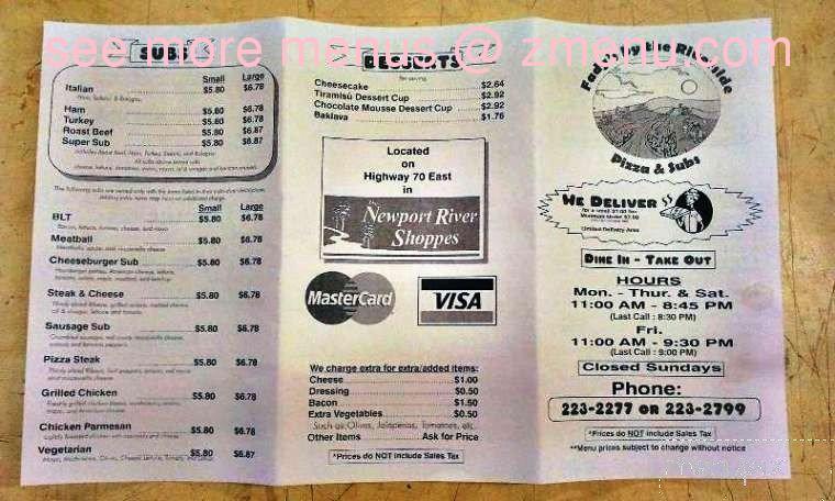 online menu of riverside pizza subs restaurant newport north carolina 28570 zmenu