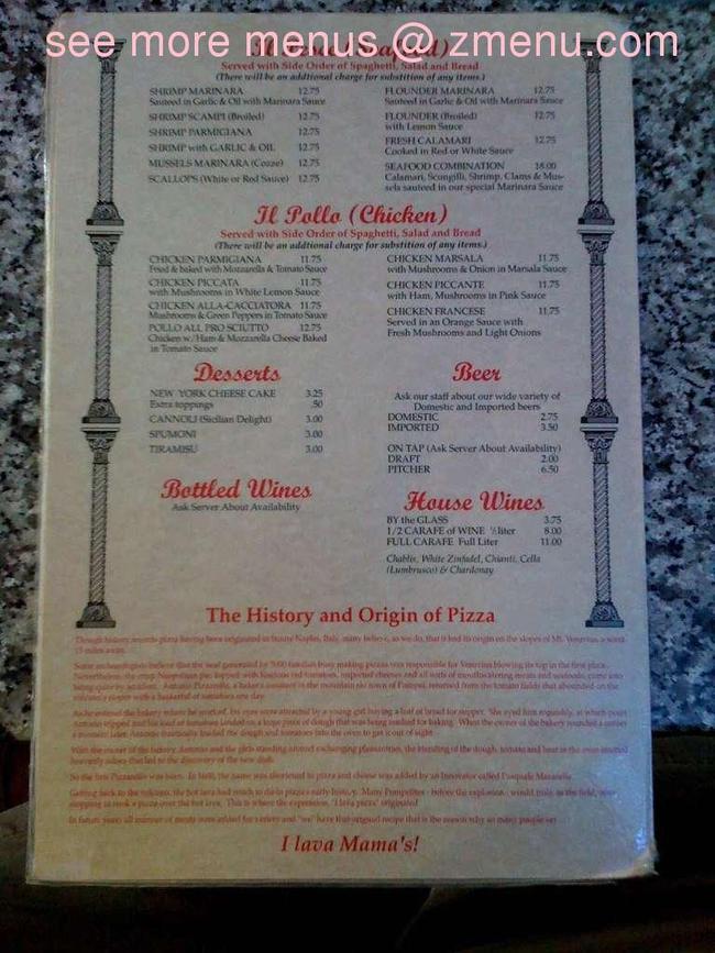 Online Menu Of Mama S Pizza Italian Restaurant Restaurant