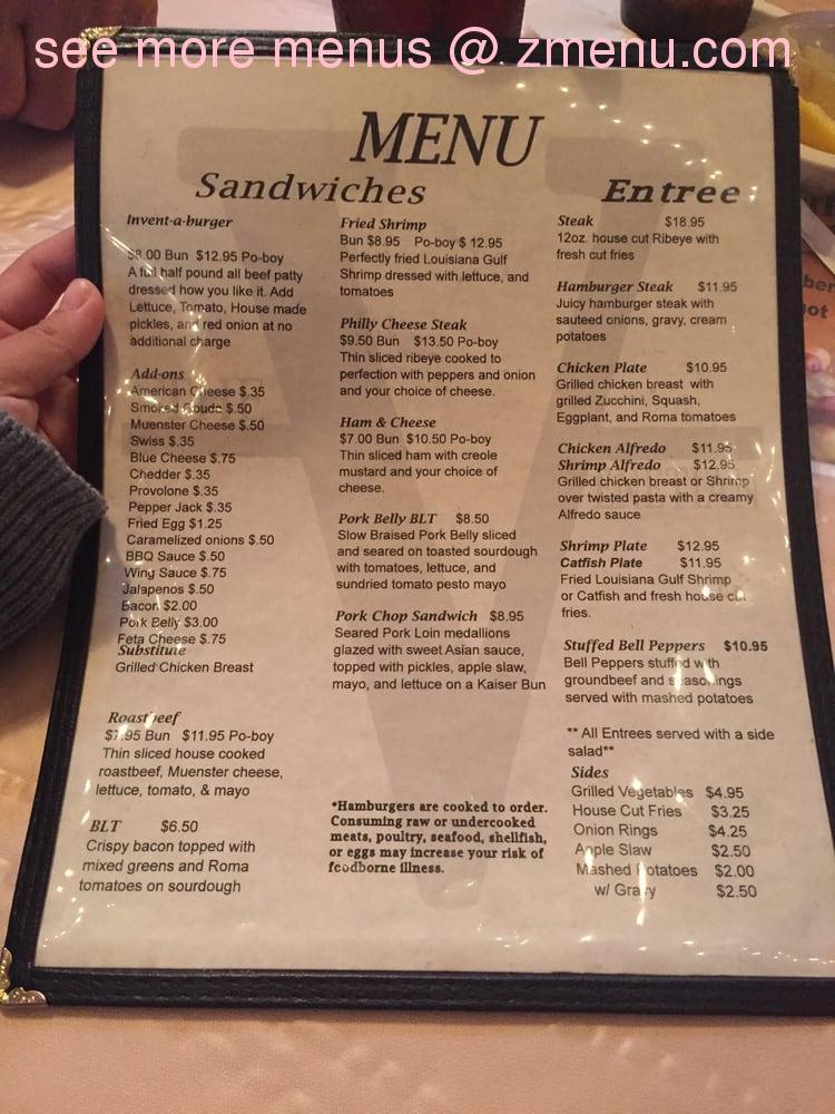 Weeping Willow Cafe Menu