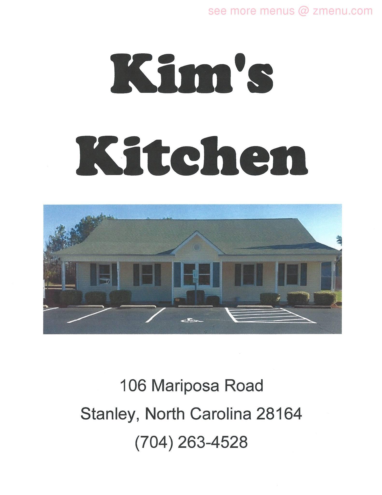 Online Menu of Kim\'s Kitchen Family Restaurant -CLOSED Restaurant ...