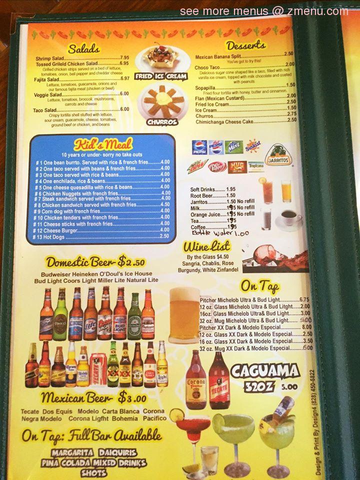 Marietta menu