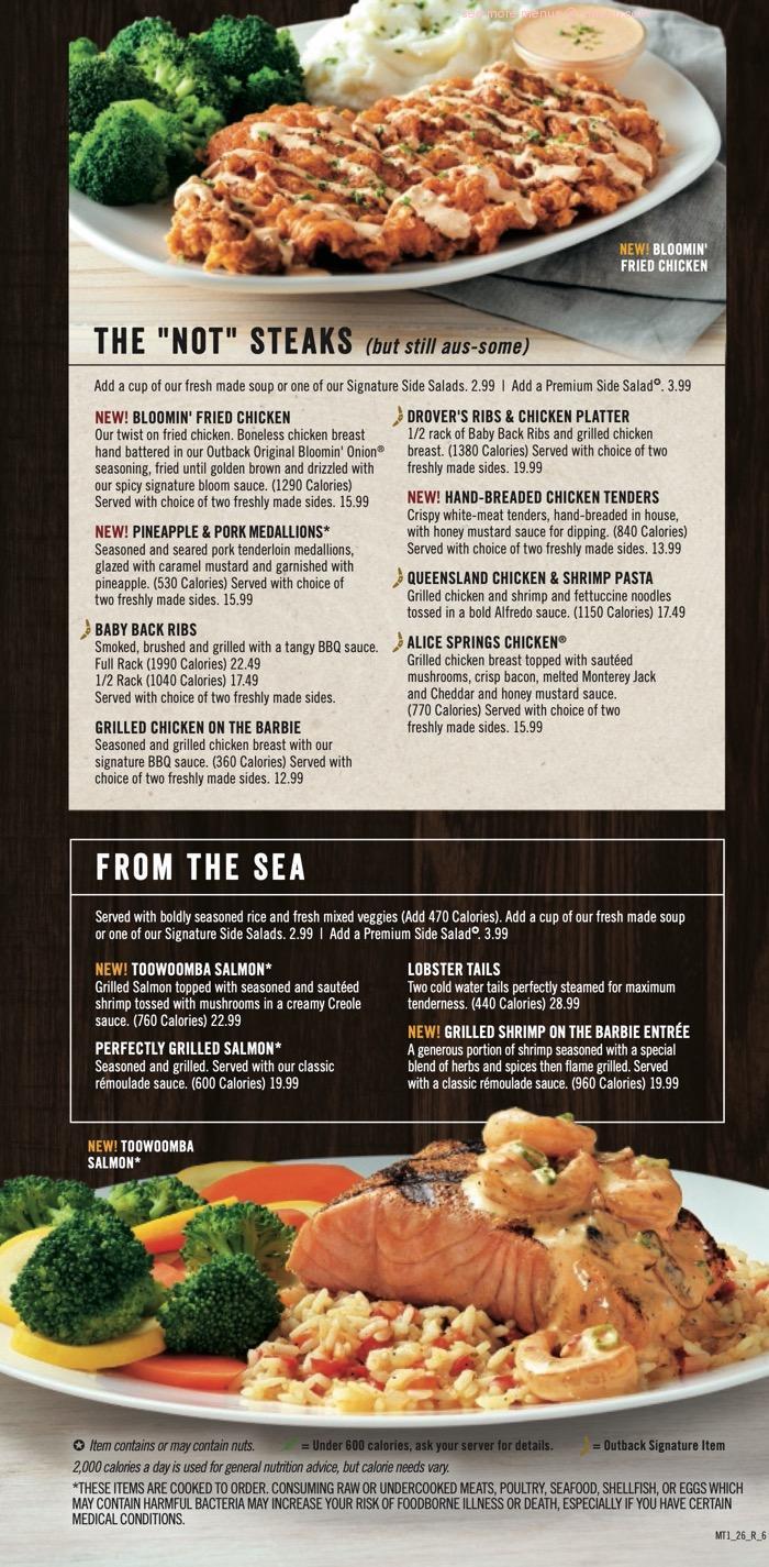 Online Menu Of Outback Steakhouse Restaurant Columbia South Carolina Zmenu