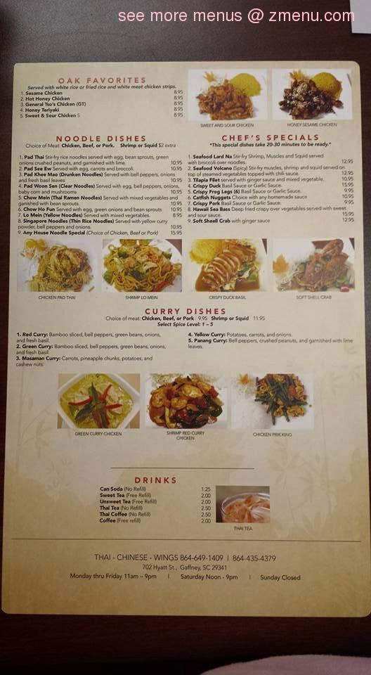 Online Menu of One Asian Kitchen Restaurant, Gaffney, South Carolina ...