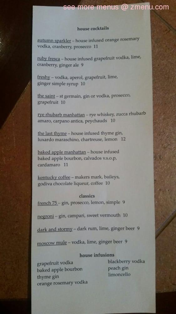 Online Menu Of Westcity Sardine Kitchen Restaurant Seattle