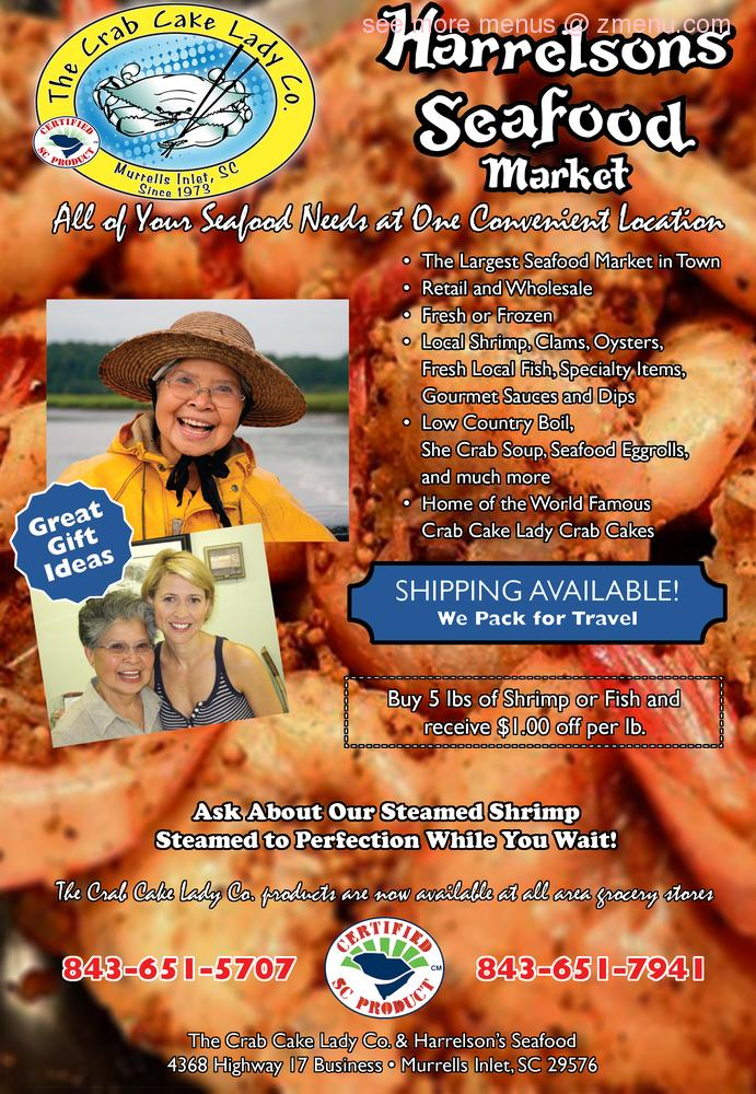 Inlet Seafood Restaurant Menu