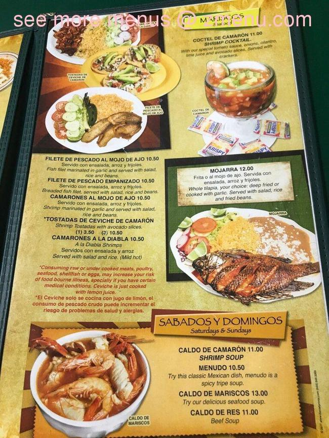 Online Menu Of La Poblanita Restaurant Restaurant Myrtle