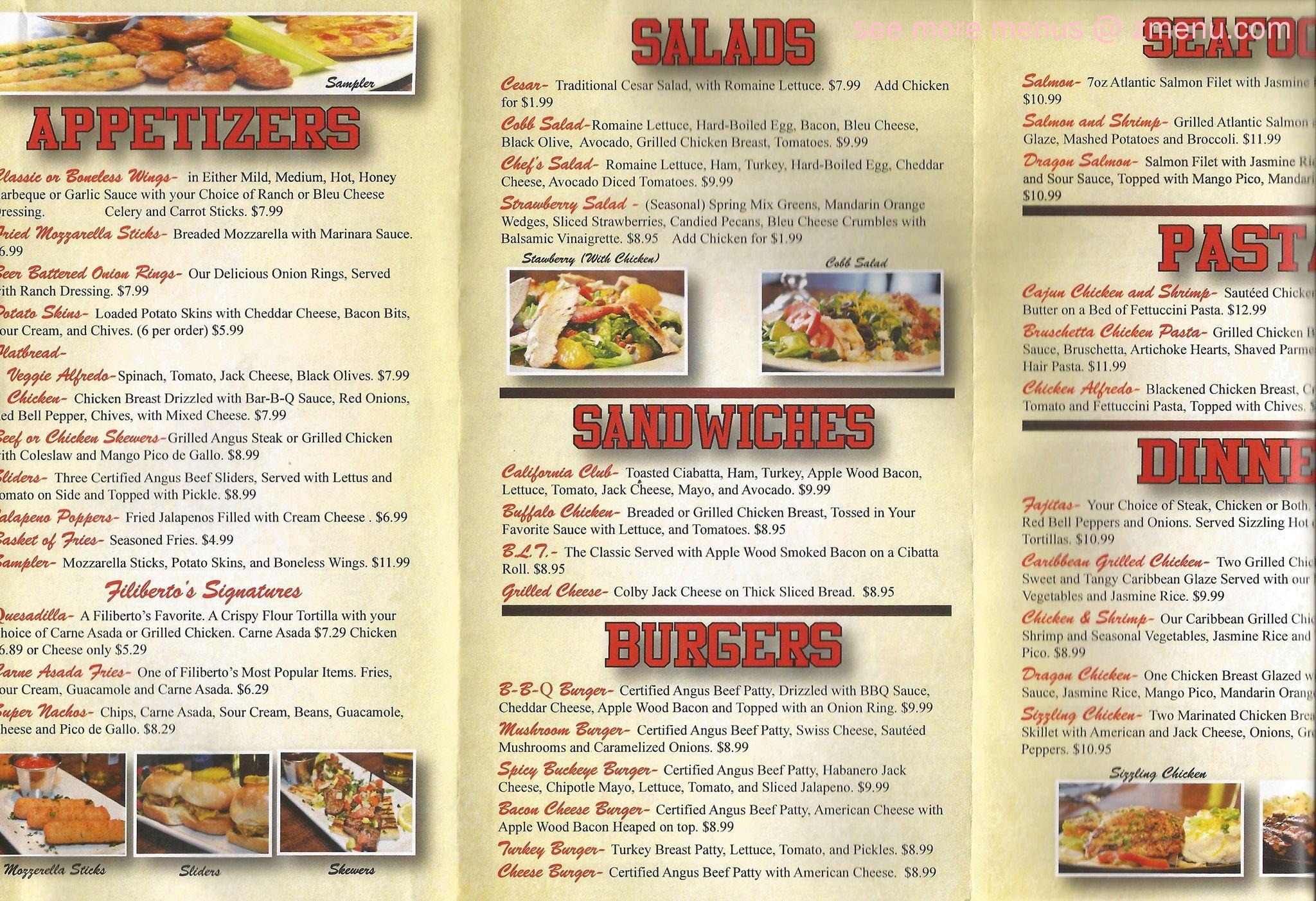 Francisco S Mexican Restaurant Menu