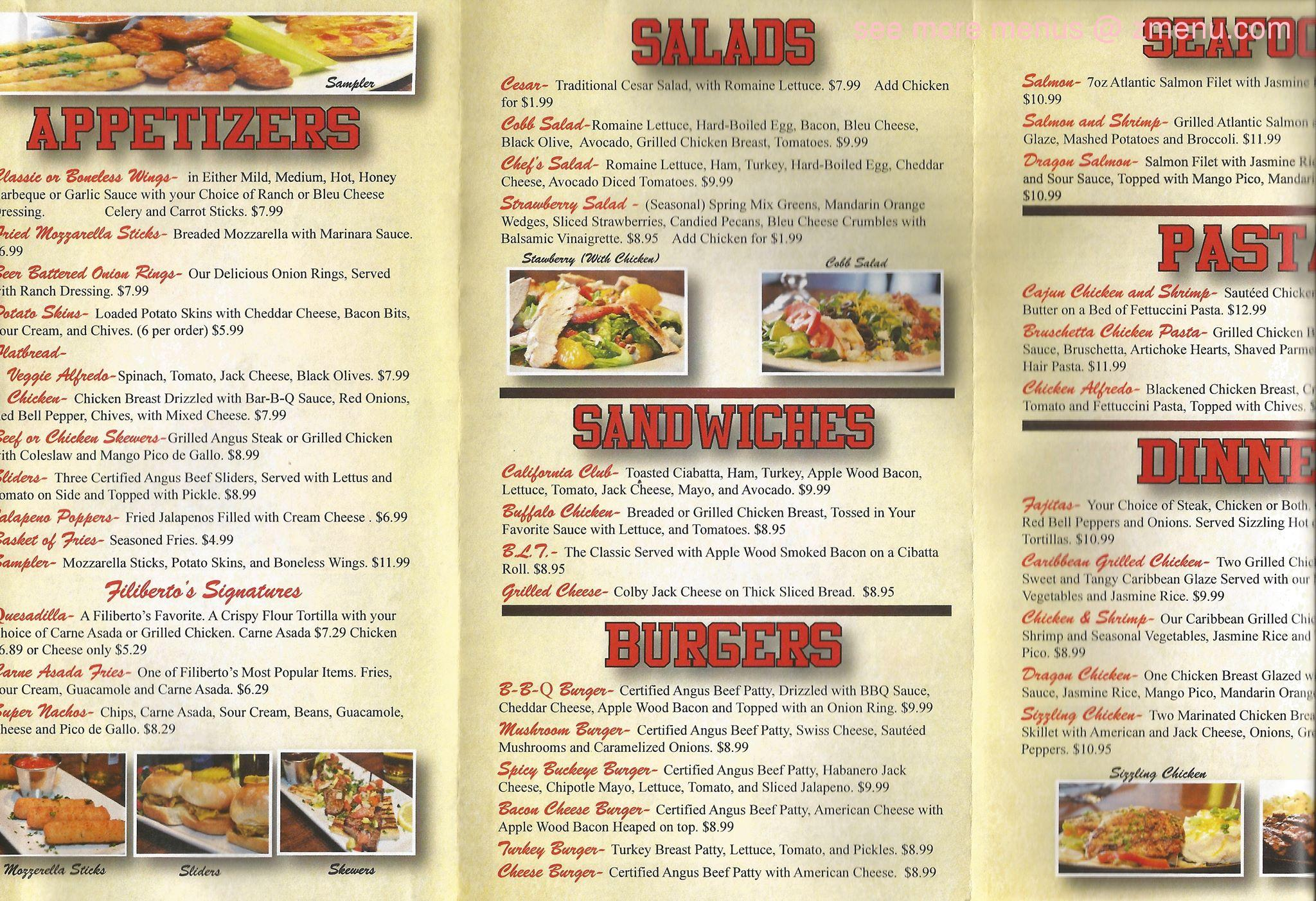 Fish And Vine Restaurant Menu