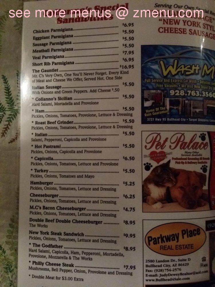 Coyote Cafe  Menu