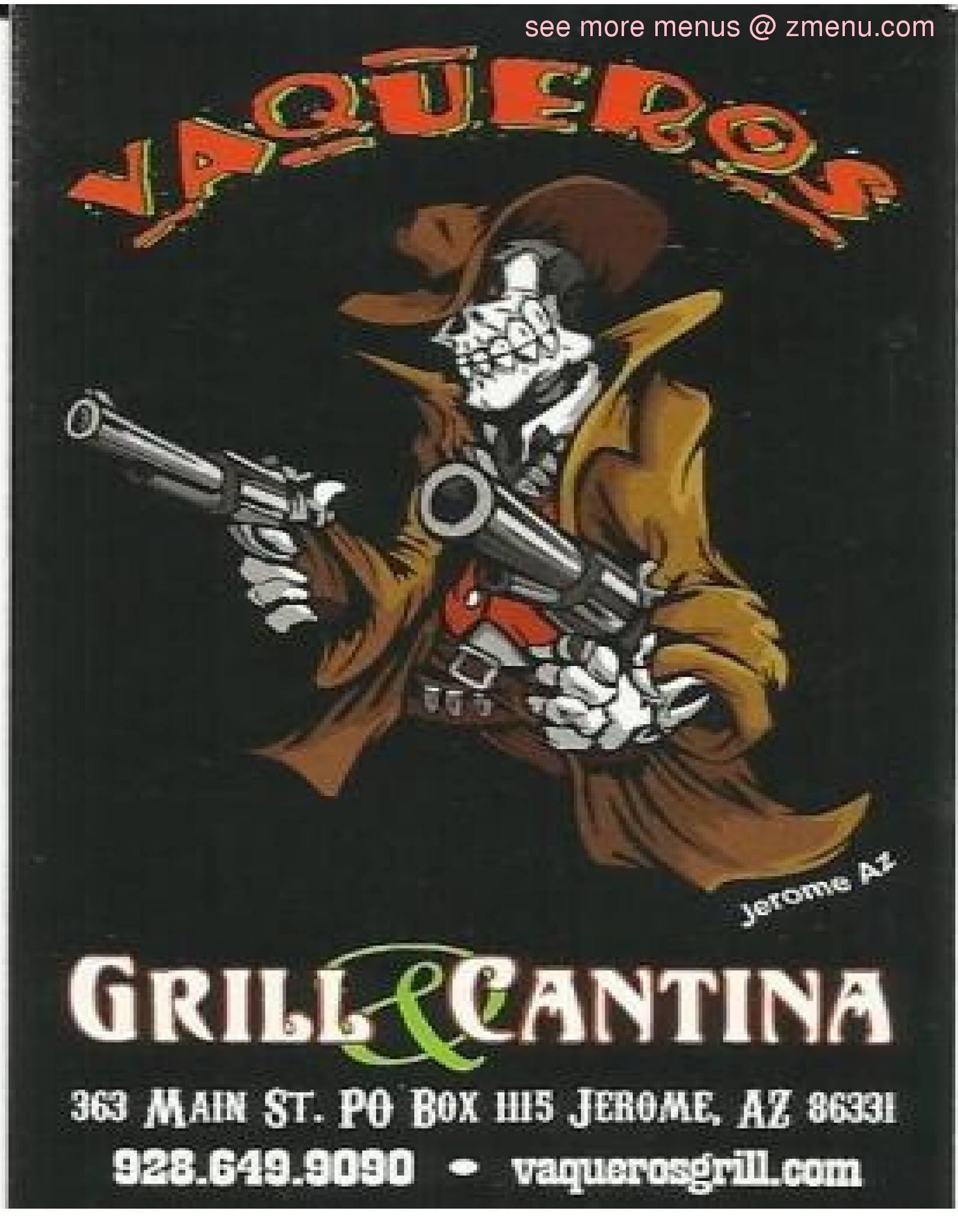 Online Menu Of Vaqueros Grill Cantina Restaurant Jerome