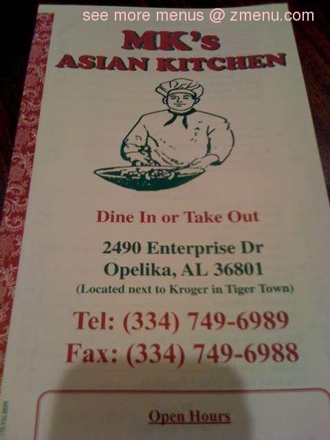 Online Menu Of Mks Asian Kitchen Restaurant Opelika Alabama 36801 Zmenu