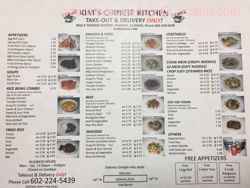 Kim S Chinese Kitchen Menu