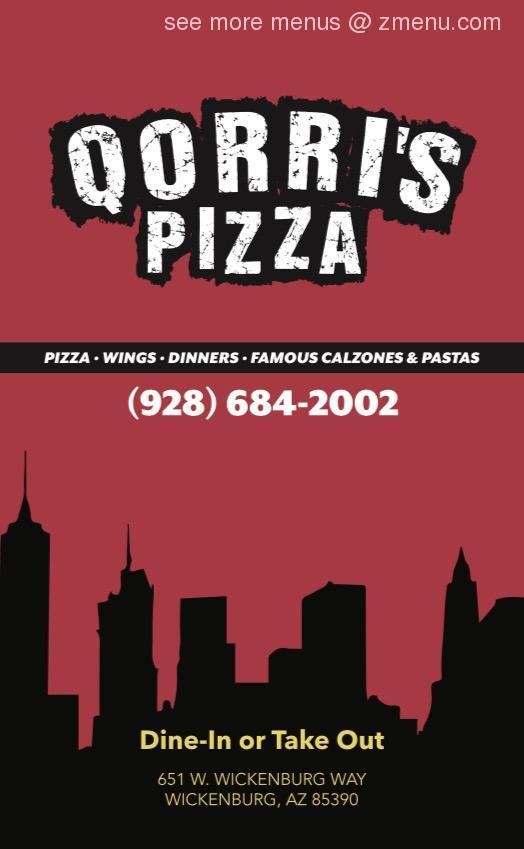 Online Menu Of Qorris Restaurant Restaurant Wickenburg