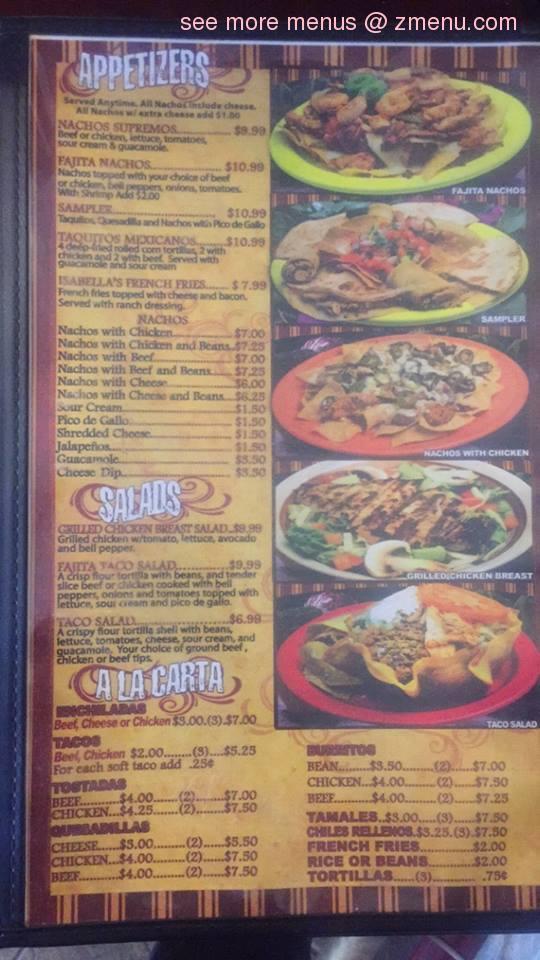 Online Menu of El Potro Mexican Restaurant Restaurant, Grand ...