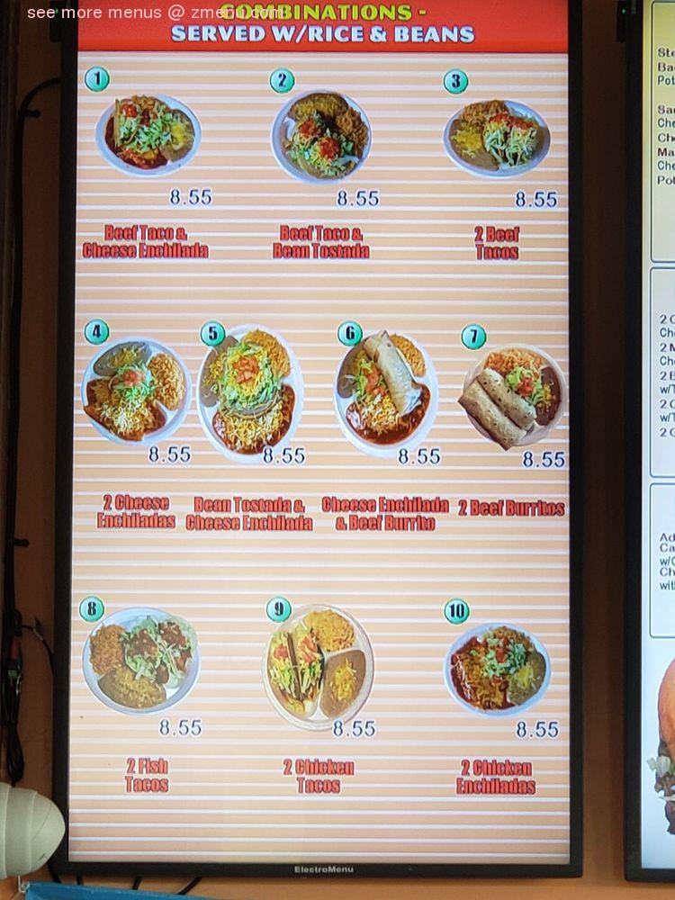 Online Menu Of El Super Taco Restaurant Colorado Springs Colorado 80906 Zmenu