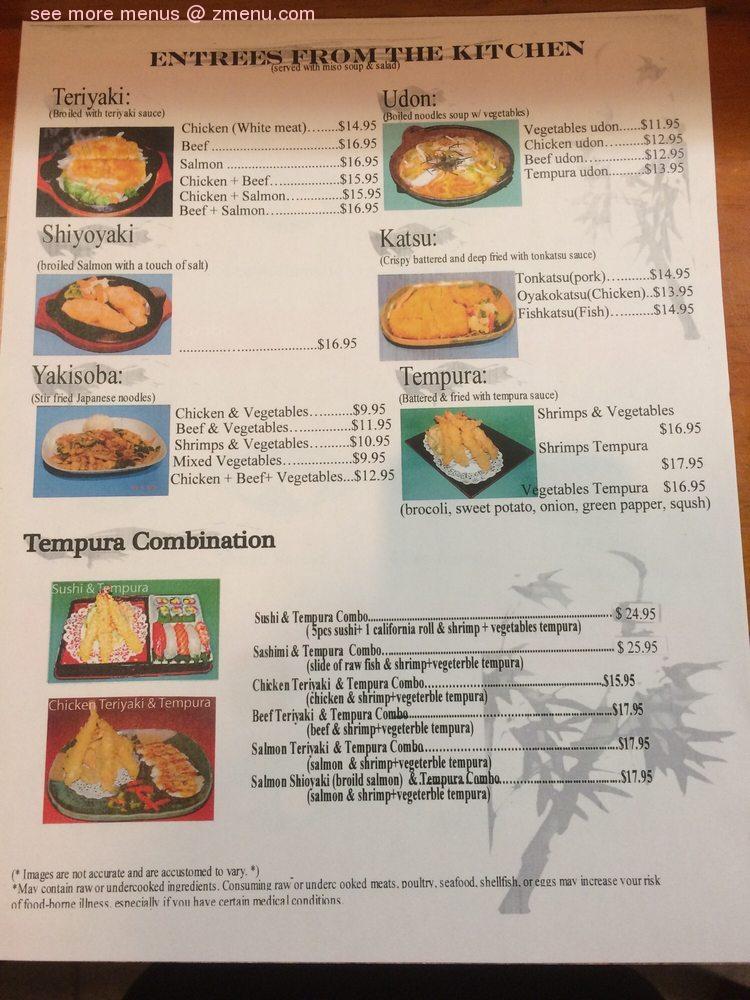 Online Menu Of Crystal Bonsai Sushi Restaurant Arlington Virginia 22202 Zmenu