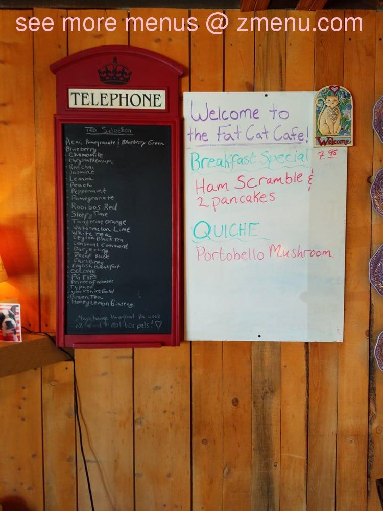 Fat Cat Cafe Menu Grand Lake Co