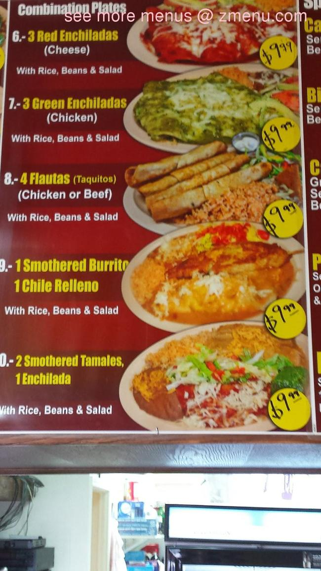 Online Menu Of Guacamoles Elohim Taqueria Mexican Food
