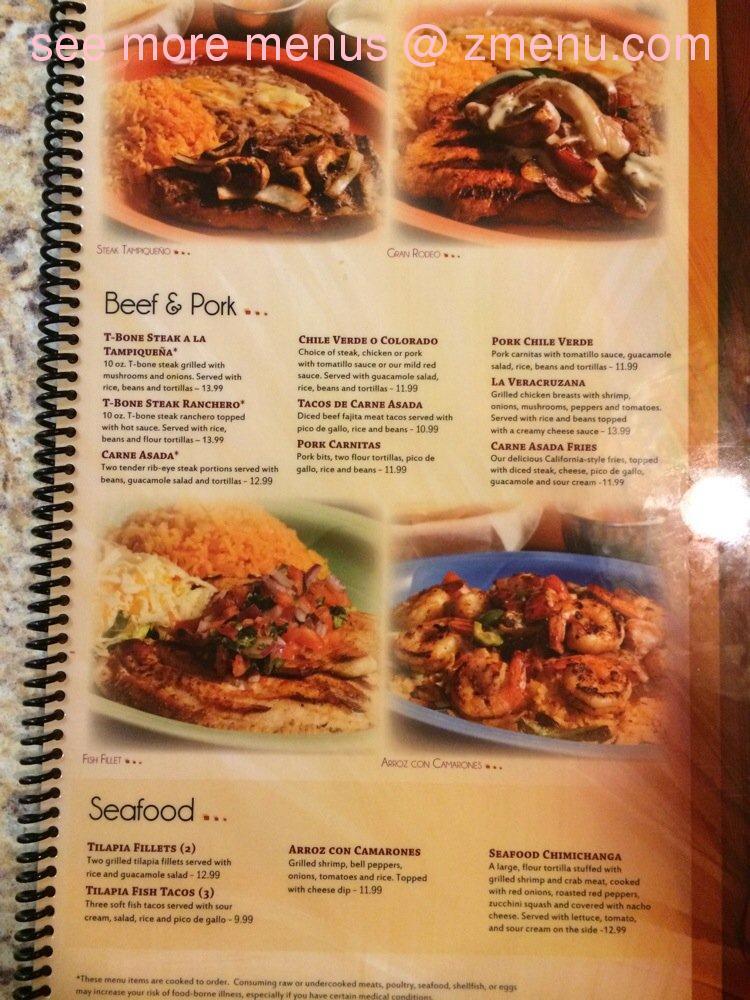 Mexican Restaurant Edinburgh Chesapeake Va Menu