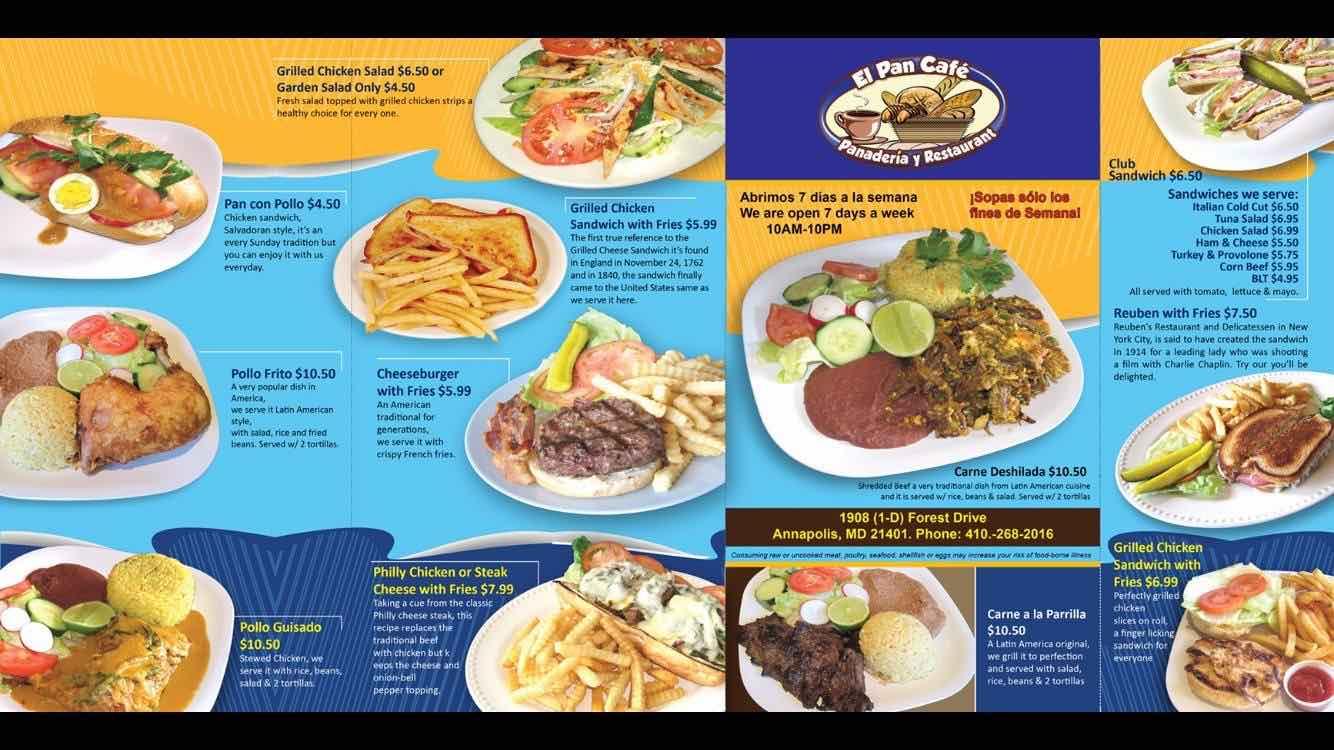Online Menu Of El Pan Caf Restaurant Annapolis Maryland