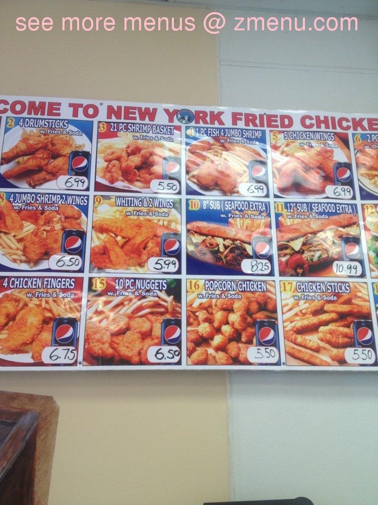 Online Menu Of New York Fried Chicken Fish Restaurant Edgewood