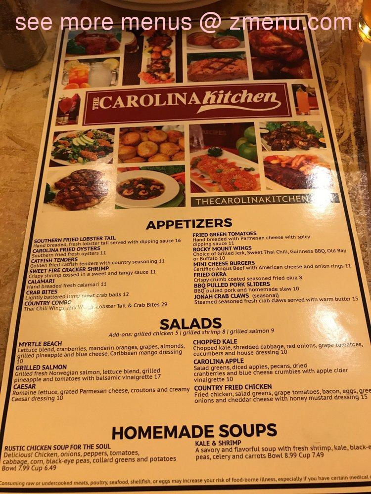 Online Menu Of Carolina Kitchen Bar Grill Restaurant Hyattsville Maryland 20782 Zmenu