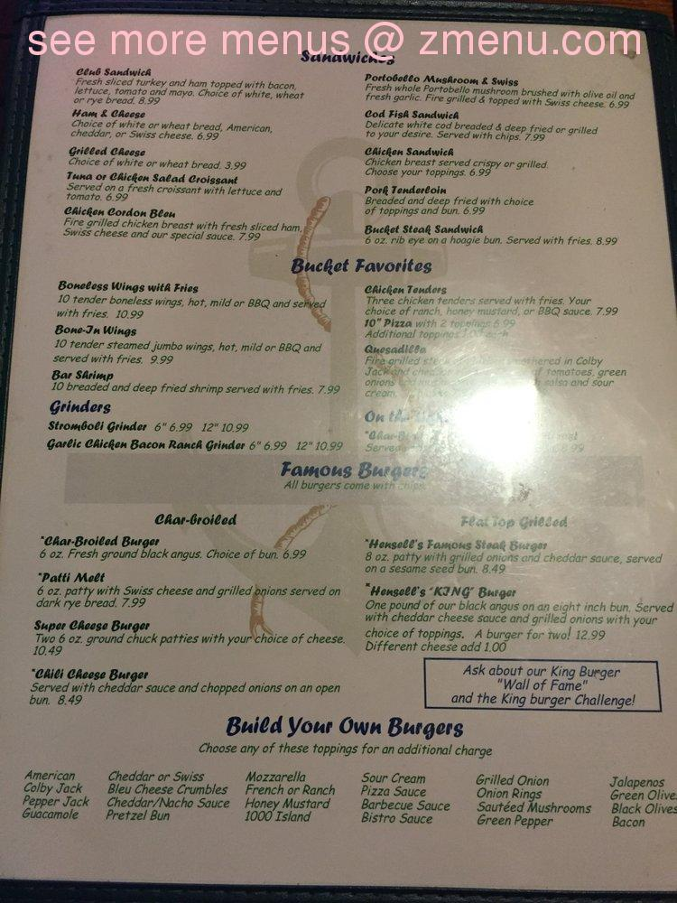 The Barn Cafe Menu