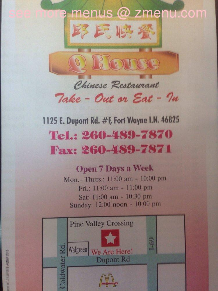 Hours Chinese Food In Fort Wayne