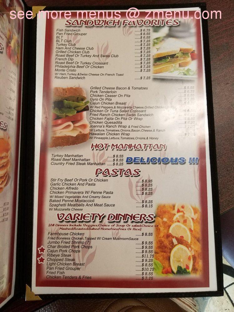 Online Menu of Joanna\'s Family Restaurant Restaurant, Fort Wayne ...