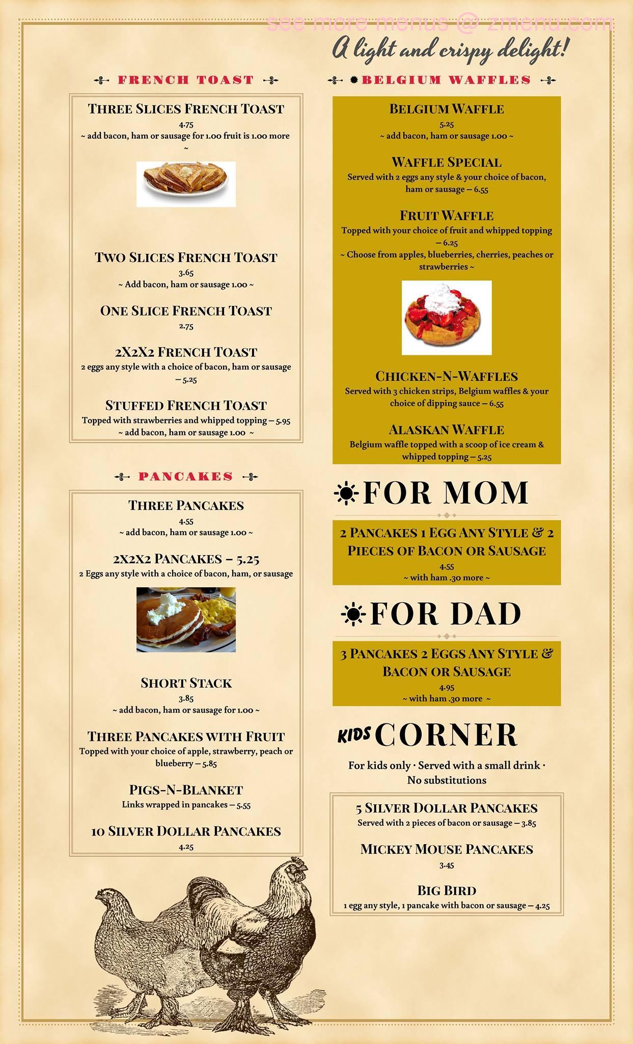 Good Table Family Restaurant Kentland In Menu