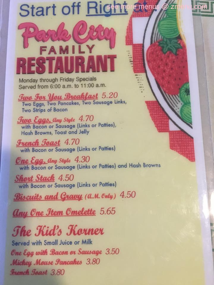 Park City Restaurant Janesville Wi Menu
