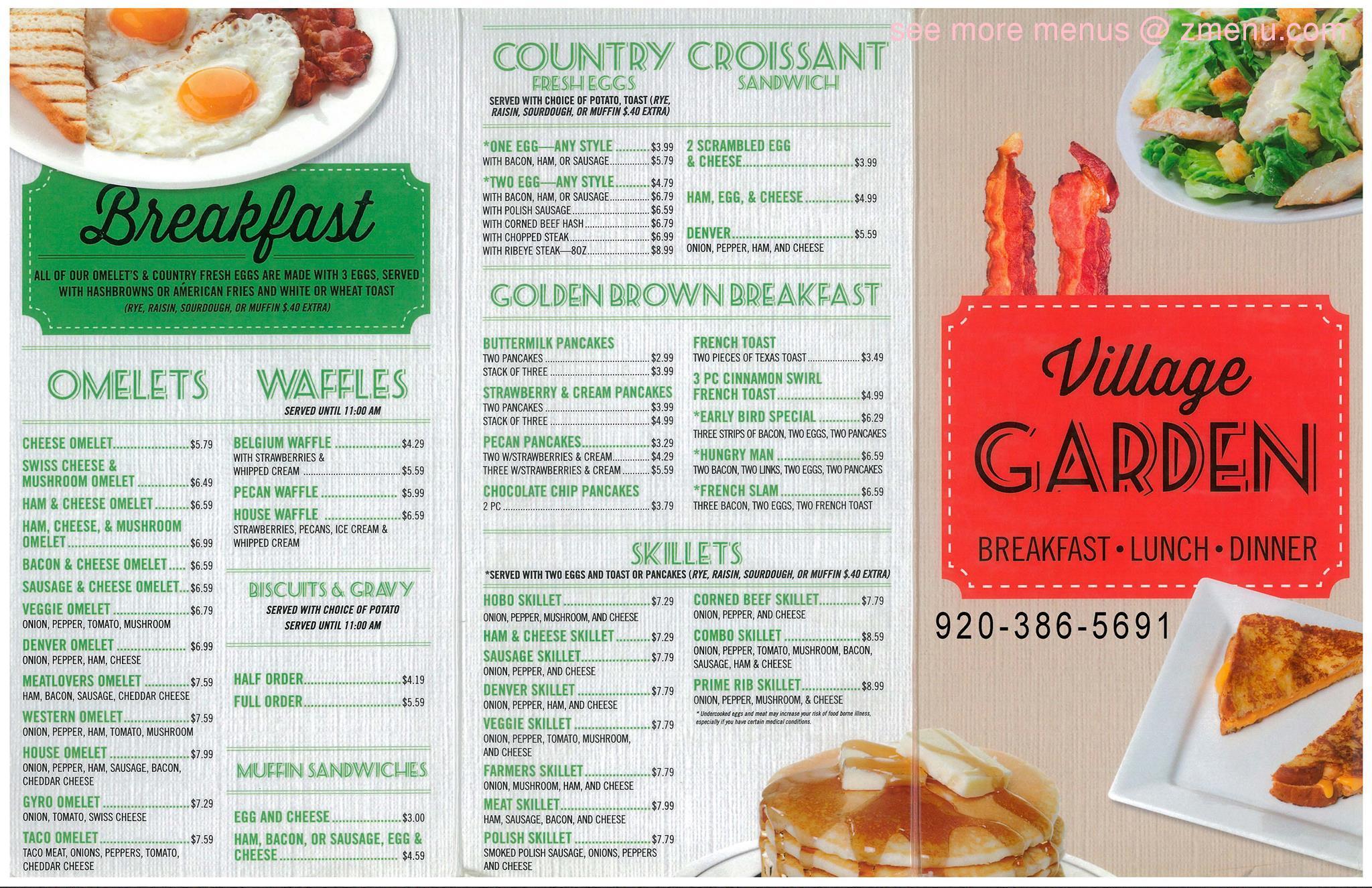 Online menu of village garden restaurant restaurant for 388 new american cuisine