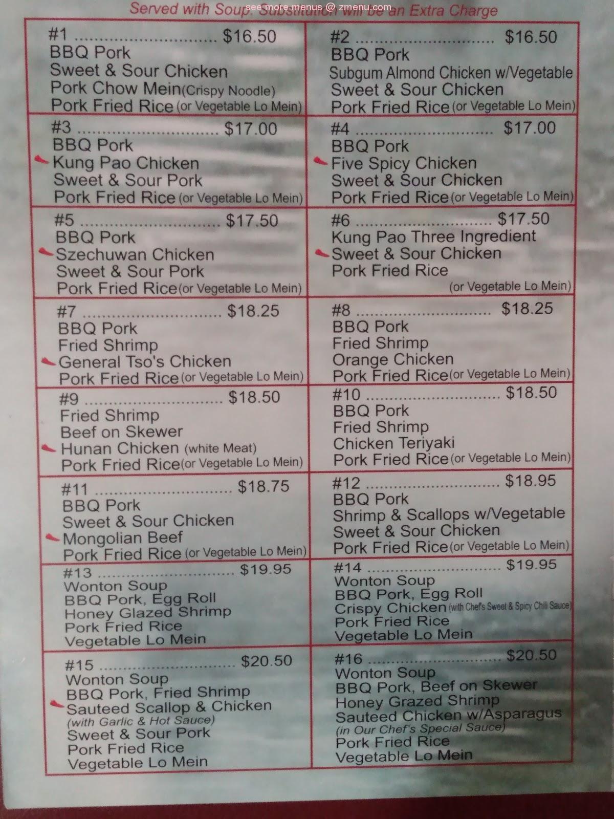 Online Menu Of Chinese Garden Restaurant Restaurant Longview Washington 98632 Zmenu