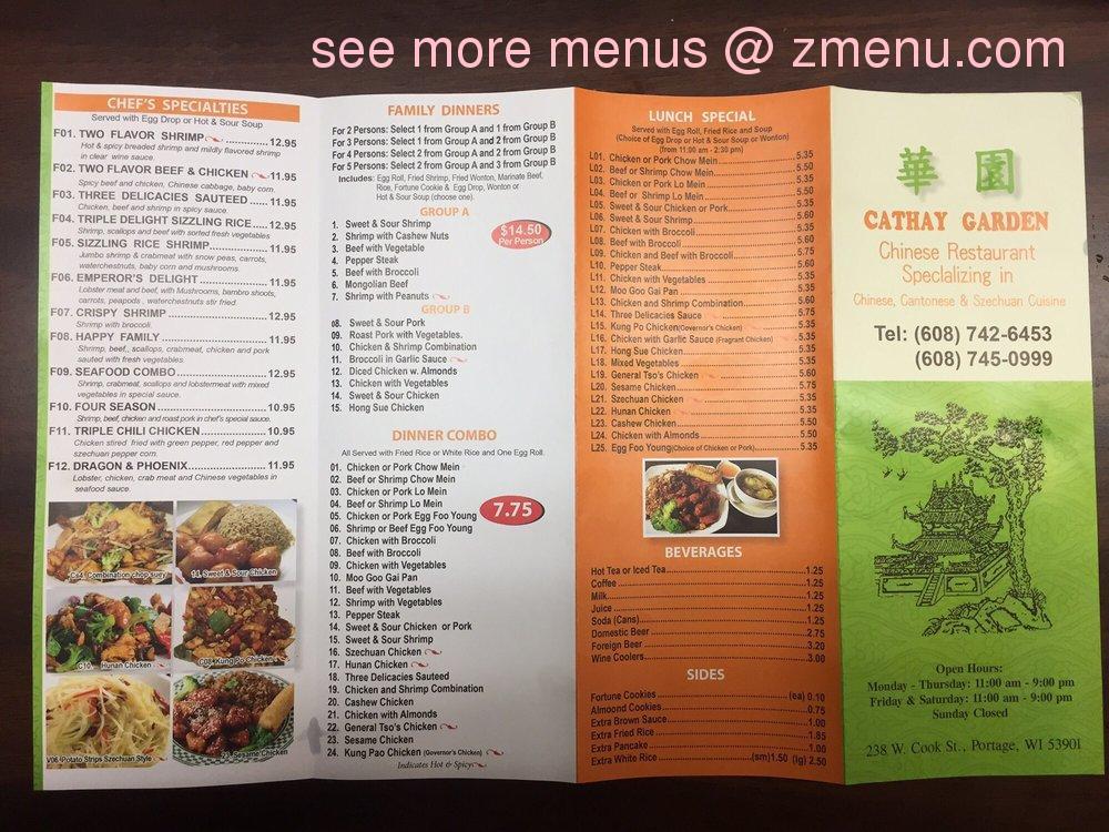 Two Rivers Restaurant Menu