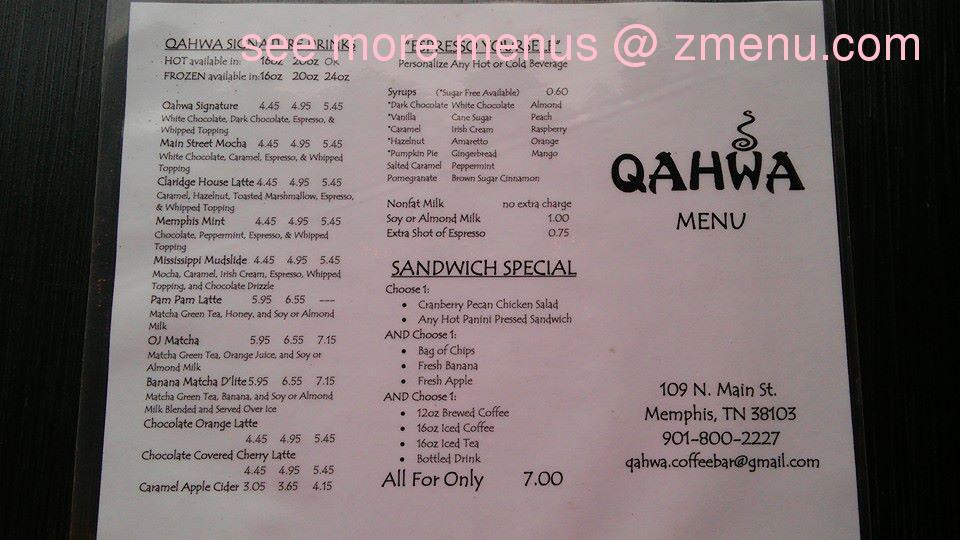 Moore Street Cafe Breakfast Menu