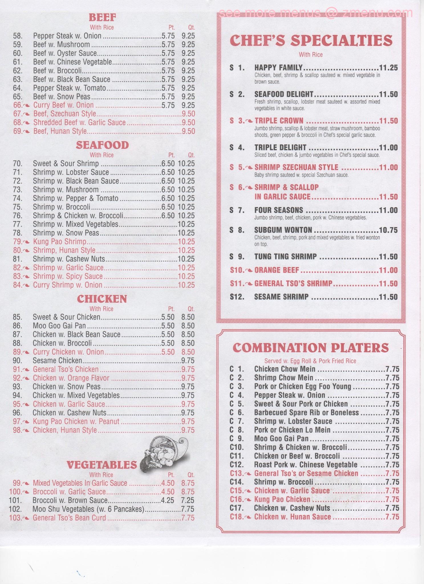 Online Menu Of New Lins Garden Restaurant Memphis Tennessee 38104 Zmenu