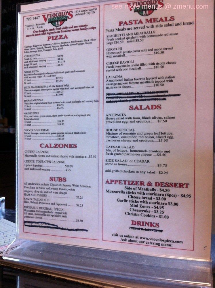 Vuocolo S Italian Restaurant Ashland City Tn