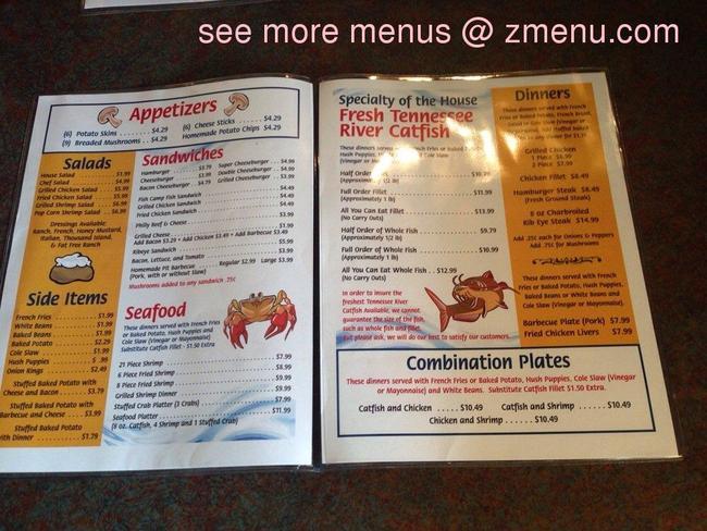 Online menu of fish camp restaurant restaurant for Fish camp menu