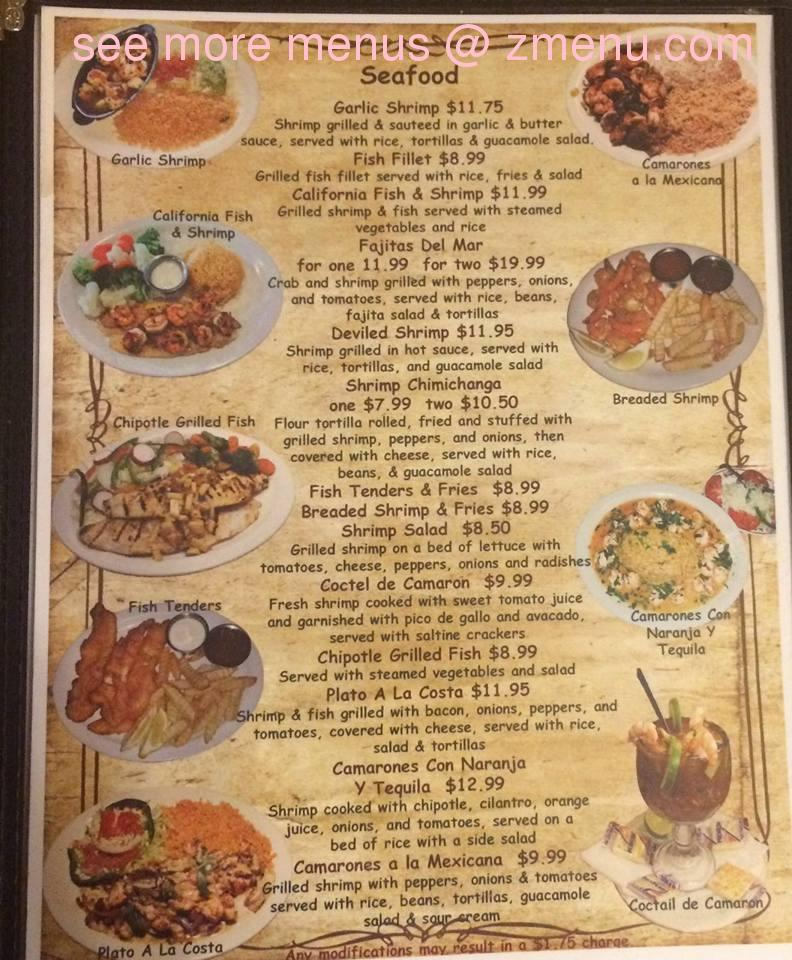 Online menu of el jardin mexican restaurant restaurant for Restaurant le jardin neufchatel menus